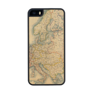 Military Political Map of Europe Wood iPhone SE/5/5s Case