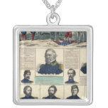 Military Portraits Square Pendant Necklace