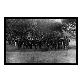 Military Post Band at Fort Monroe, VA 1864 Poster