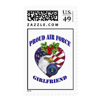 Military Proud Air Force Girlfriend Postage Stamps