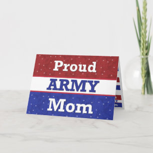 Military   Proud Army Mom   Thinking Of You Card