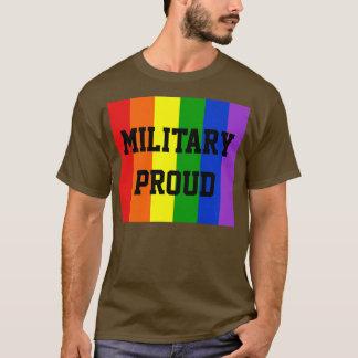 Military Proud Gay Rainbow Dark T-Shirt