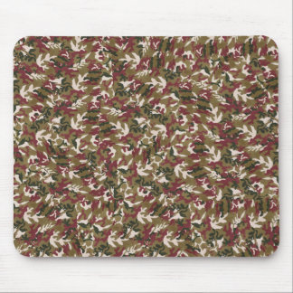 Military Red Green Brown Camouflage Pattern Mouse Pad