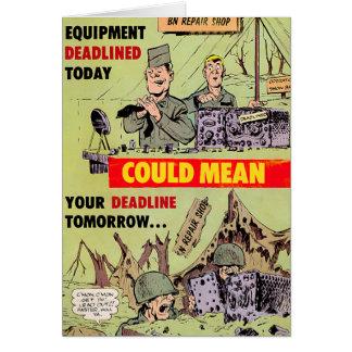 Military Repairs Card