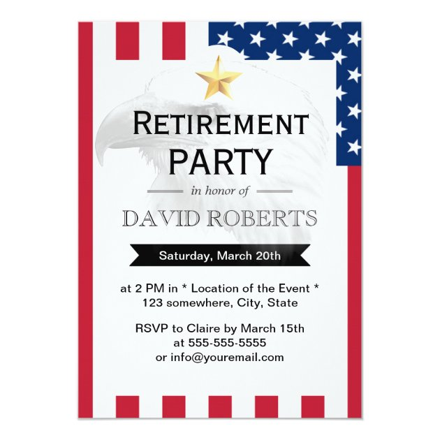 Personalized Military retirement Invitations CustomInvitations4Ucom