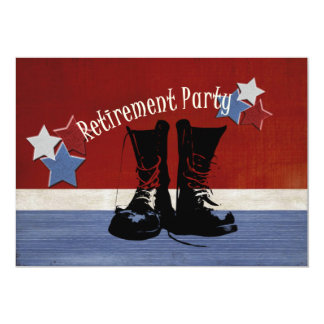 """Military Retirement Party 5"""" X 7"""" Invitation Card"""