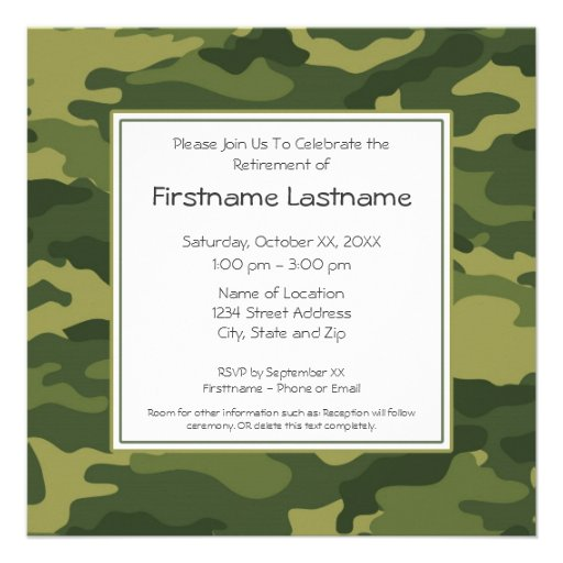Military Retirement Party Invitations for luxury invitation sample