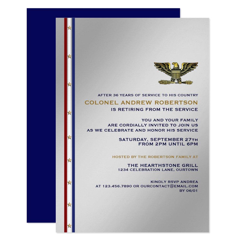 Military Retirement Party Invitation