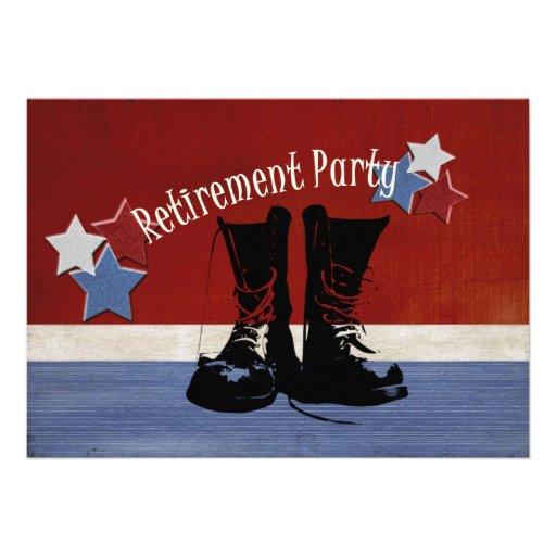 Military Retirement Party Announcements