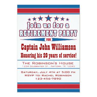 "Military Retirement Party Invitation 5"" X 7"" Invitation Card"