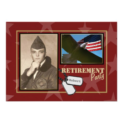Military Retirement Party Personalized Invites