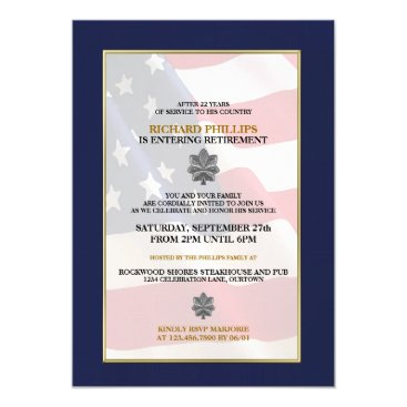 reflections06 Military Retirement Party Invitations