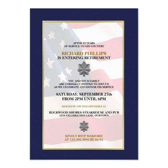 military retirement party invitations zazzle com