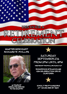 military retirement invitations zazzle