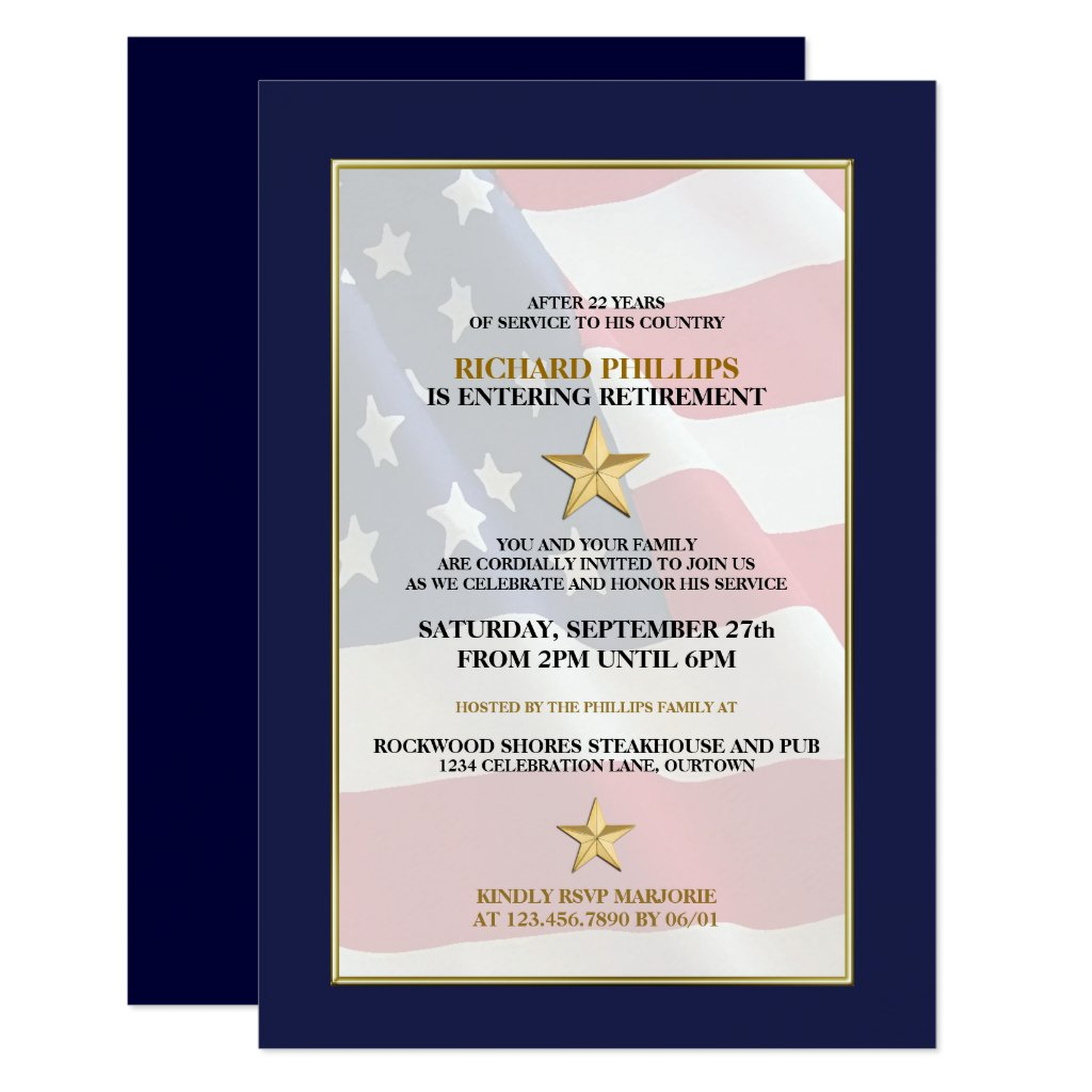 Military Retirement Party Invitations
