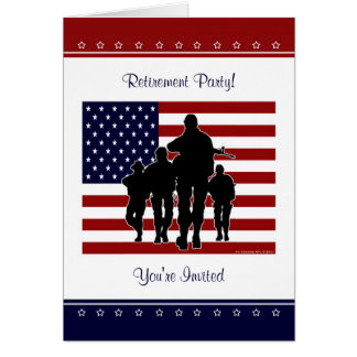 Military Retirement Party Personalized Invitation Card