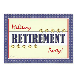 Military Retirement Stars Party Invitation