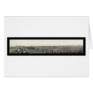 Military Review Custer Photo 1917 Card