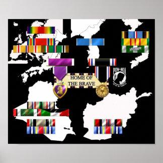 Military Ribbons Print