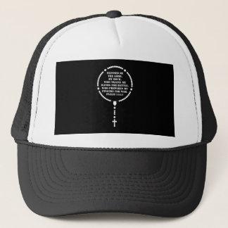 Military Rosary white Trucker Hat