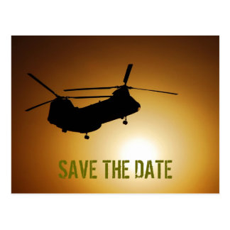 Military Save the Date Postcard