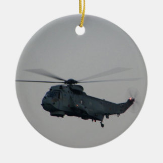 Military Sea King Helicopter Ceramic Ornament