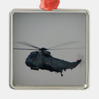 Military Sea King Helicopter Metal Ornament
