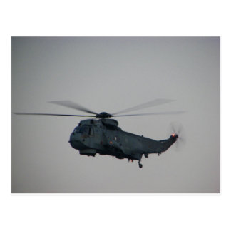 Military Sea King Helicopter Postcard