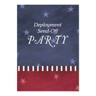 Military Send Off Deployment Party Custom Card