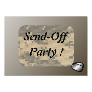 Military Send Off Party 5x7 Paper Invitation Card