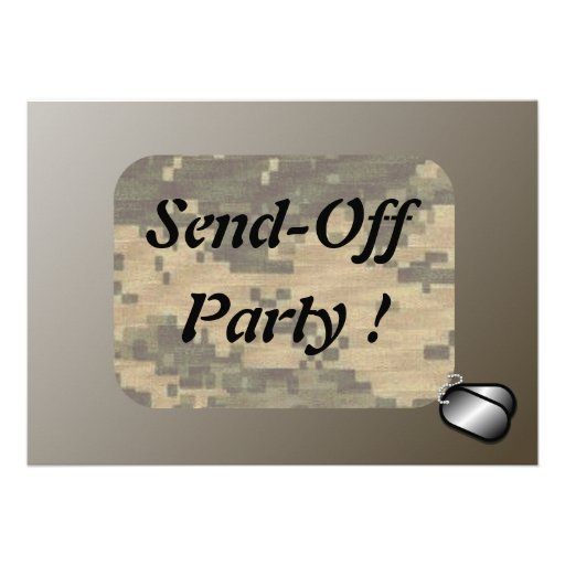 Military Send Off Party Announcements