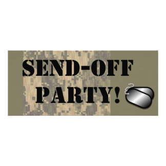 """Military Send Off Party"" Custom Announcement"