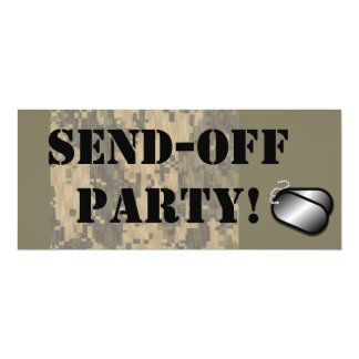 Military Send Off Party Custom Personalized Card