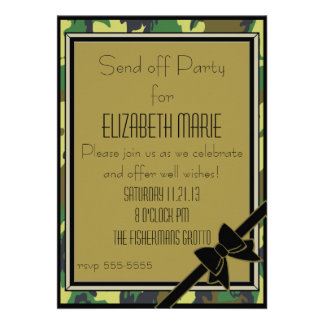 Military Send Off Party Announcement