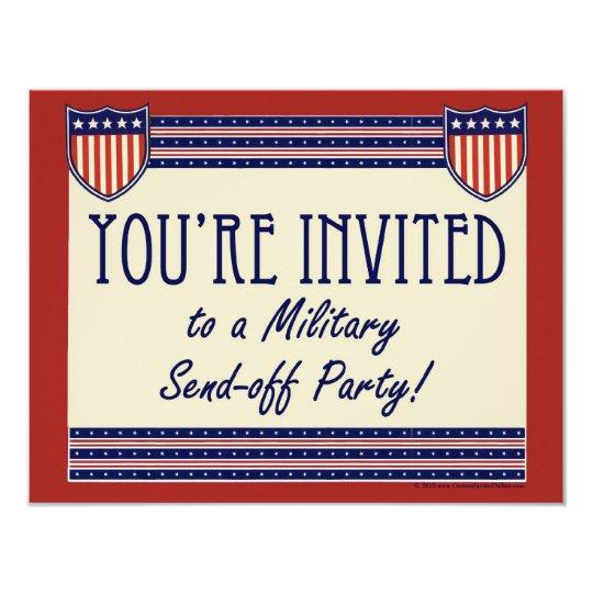 military send off party invitations zazzle com
