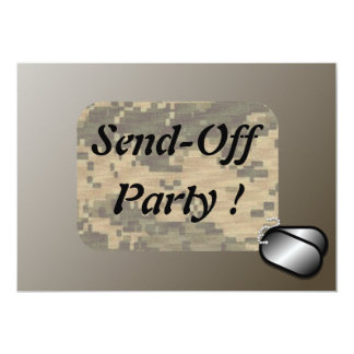 Military Send Off Party Revised Custom 5x7 Paper Invitation Card
