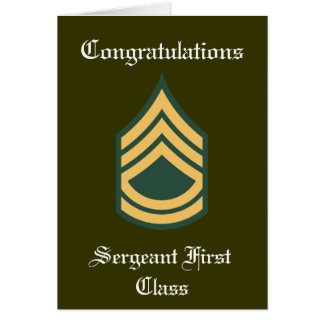 Military Sergeant First Class Retirement Card