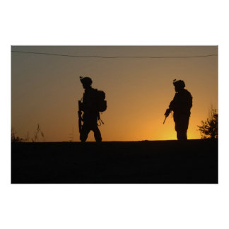 Military Silhouette Poster
