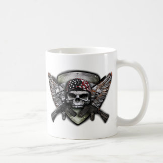 Military Skull With Crossed Gun Special Warfare Coffee Mug