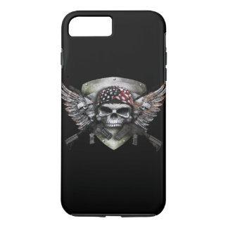 Military Skull With Crossed Gun Special Warfare iPhone 7 Plus Case