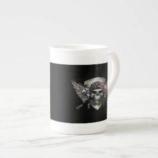 Military Skull With Crossed Gun Special Warfare Tea Cup
