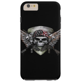 Military Skull With Crossed Gun Special Warfare Tough iPhone 6 Plus Case