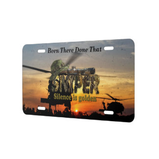 Military Snipers rangers recon lrrps veterans vets License Plate