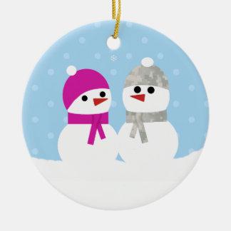 Military Snow Couple Ornament