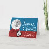 Military Snow Globe Photo Christmas Card