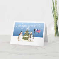 Military Snowman From 2 of Us Christmas Card