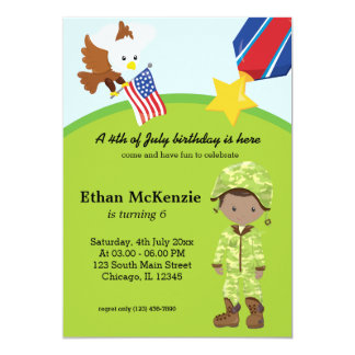 Military Soldier  Boy Card