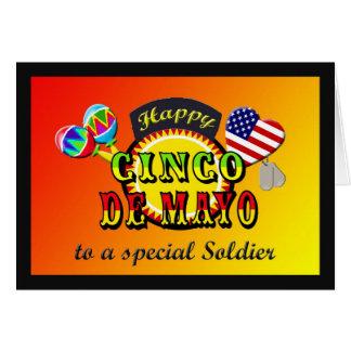 Military Soldier Cinco de Mayo Card
