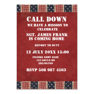 military soldier coming home invitation