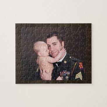 Military Soldier Custom Personalized Jigsaw Puzzle
